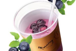 ドリンクデザートに季節の果実「ブルーベリー」が登場です!